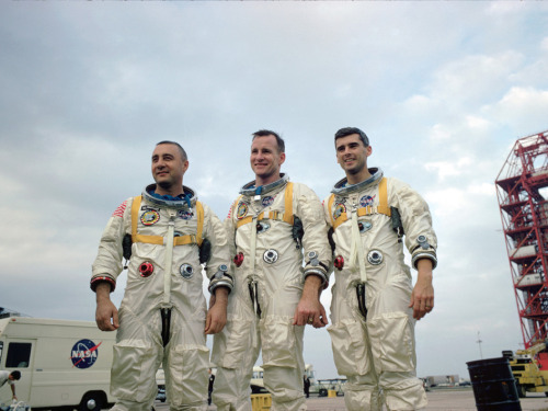 On today's date in 1967, Gus Grissom, Ed White, and Roger Chaffee lost their lives in a fire during a training exercise onboard Apollo-Saturn 204, later known as Apollo 1. Per aspera ad astra
