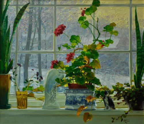 by David Hettinger   flowers in the morning