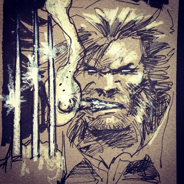 Quick #marvel #wolverine warm up