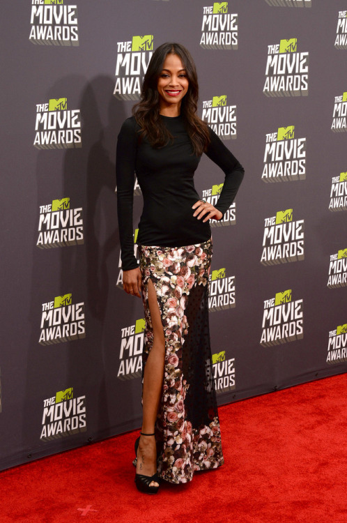 whispersphinx:  Zoe Saldana | MTV Movie Awards, Culver City 2013.