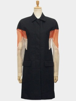 reiforraf:  coat with sheer panels - Helmut Lang