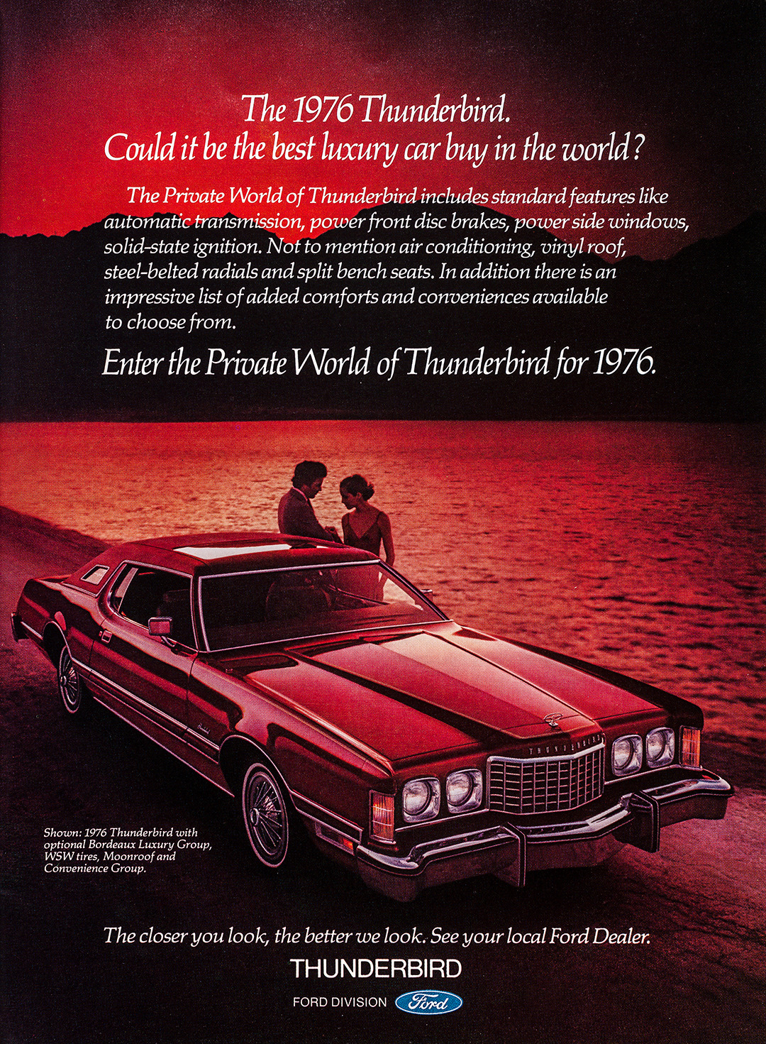 Ford Thunderbird Advertisement - Gourmet: March 1976