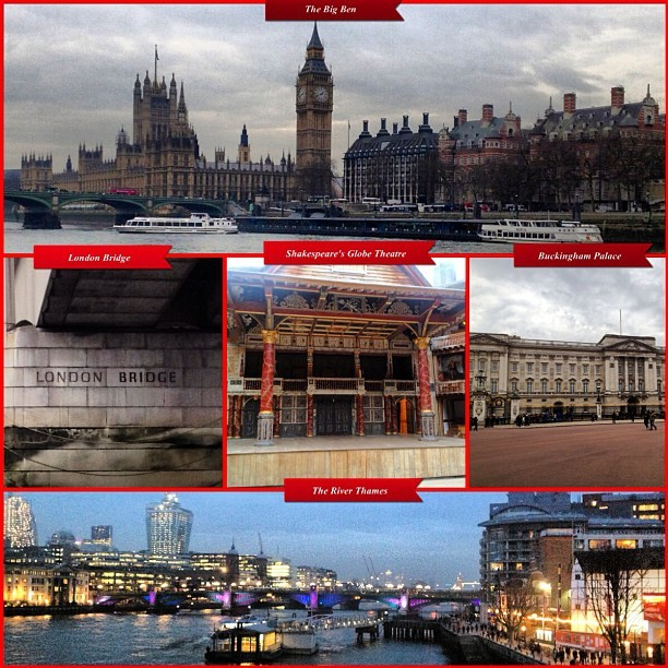 London Tourism #ThamesRiver #TheBigBen #ShakespeareGlobeTheatre #LondonBridge #BuckinghamPalace