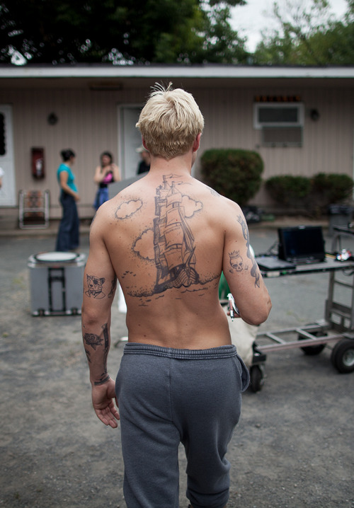 "jimagraphy:  ""The Place Beyond The Pines"" Behind The Scene on W Magazine March 2013 Photographed by JIMA"
