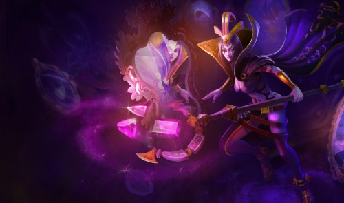 leblanc-thedeceiver:  Original Splash Art | Chinese Splash Art Current Splash Art