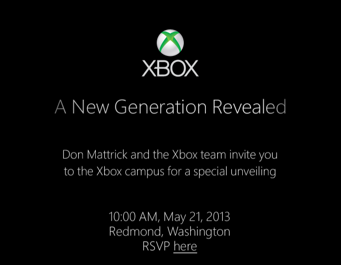 "Microsoft to unveil 'new generation' Xbox on May 21 (Photo: Microsoft) Turns out, that ""special event"" that Microsoft has been rumored to have in store next month is real. The Redmond, Wash.-based tech giant sent out invitations this morning asking reporters to ""join us as we reveal a new generation of Xbox."" Read the complete story."