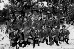 Italian soldiers pose for a photo before heading to the front.