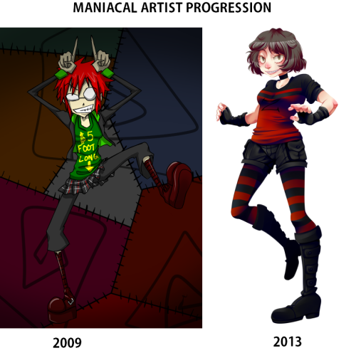 maniacal-artist:  WOOOOOOOOOOOOOOOOOOOOOOOOOOOO  XD 2009 looks like it came straight out of a Vasquez comic. Much respect for your progress, hun. c: