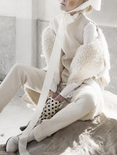"""Women in Folk Painting,"" by Koo Bohnchang for Vogue Korea January 2013"