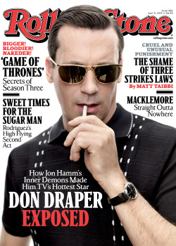 rollingstone:  Get a first look at Jon Hamm on the cover of our new issue. In the cover story, Hamm explains how drastically he differs from Don Draper, his pre-Mad Men struggles in the entertainment business and his plans when the show goes off the air in 2014. Keep an eye out for the issue on newsstands this Friday.