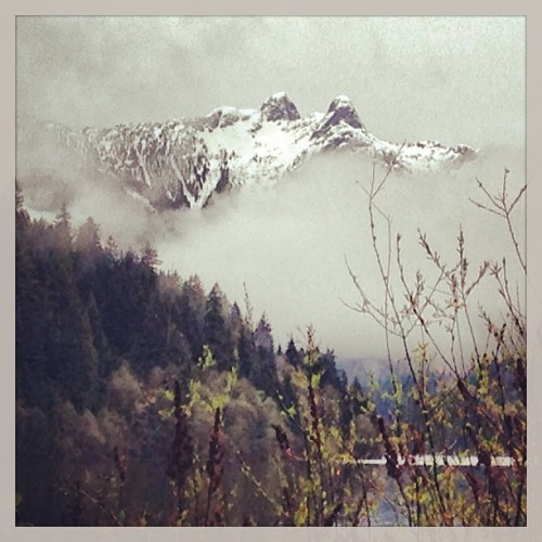 Love the north shore mountains. :) (at Cleveland Dam)