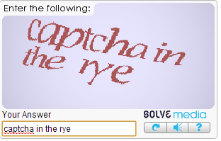Ha. I just got this captcha.