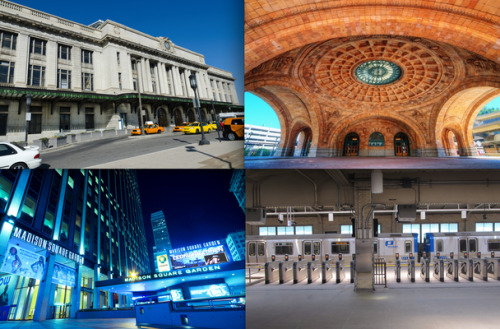 "nprfreshair:  Why Are There Still So Many Train Stations Named Penn Station? ""They're all named for the Pennsylvania Railroad,"" says historian Albert Churella of Southern Polytechnic State University, in Georgia, and author of The Pennsylvania Railroad: Volume 1, Building an Empire, 1846–1917. ""In small towns, people would not have said, the Pennsylvania Station. They would have just said, the railroad station, or the depot, or what have you. They probably wouldn't have given it a formal name."" Read more. [Images: Various]"