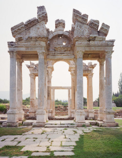 visitheworld:  Tetrapylon gate in the ancient ruined city of Aphrodisias, Turkey (by colinmillerphoto).