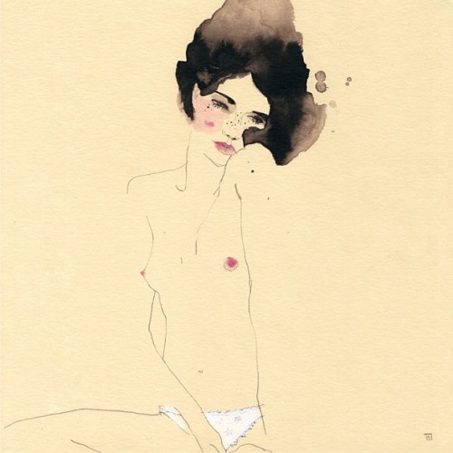 conradrosetart:  Old muse for Libido exhibition