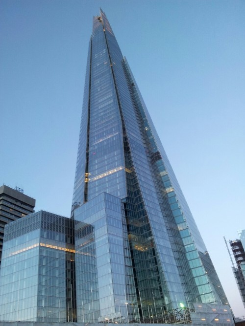 The Shard - London As seen from London Bridge Station