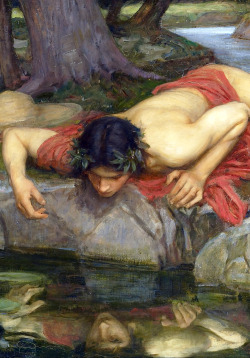 c0ssette:  Echo and Narcissus (detail) 1903,John William Waterhouse.