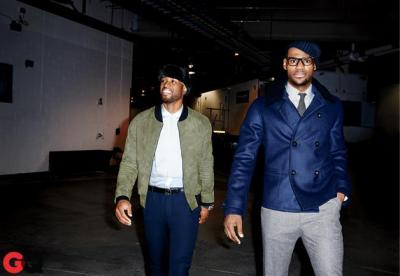 Dwyane Wade + Lebron James for GQ [March 2013]