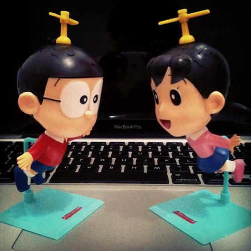 theandino:  #nobita meet his #cute #girlfriend #love (at RobotZ Studio)