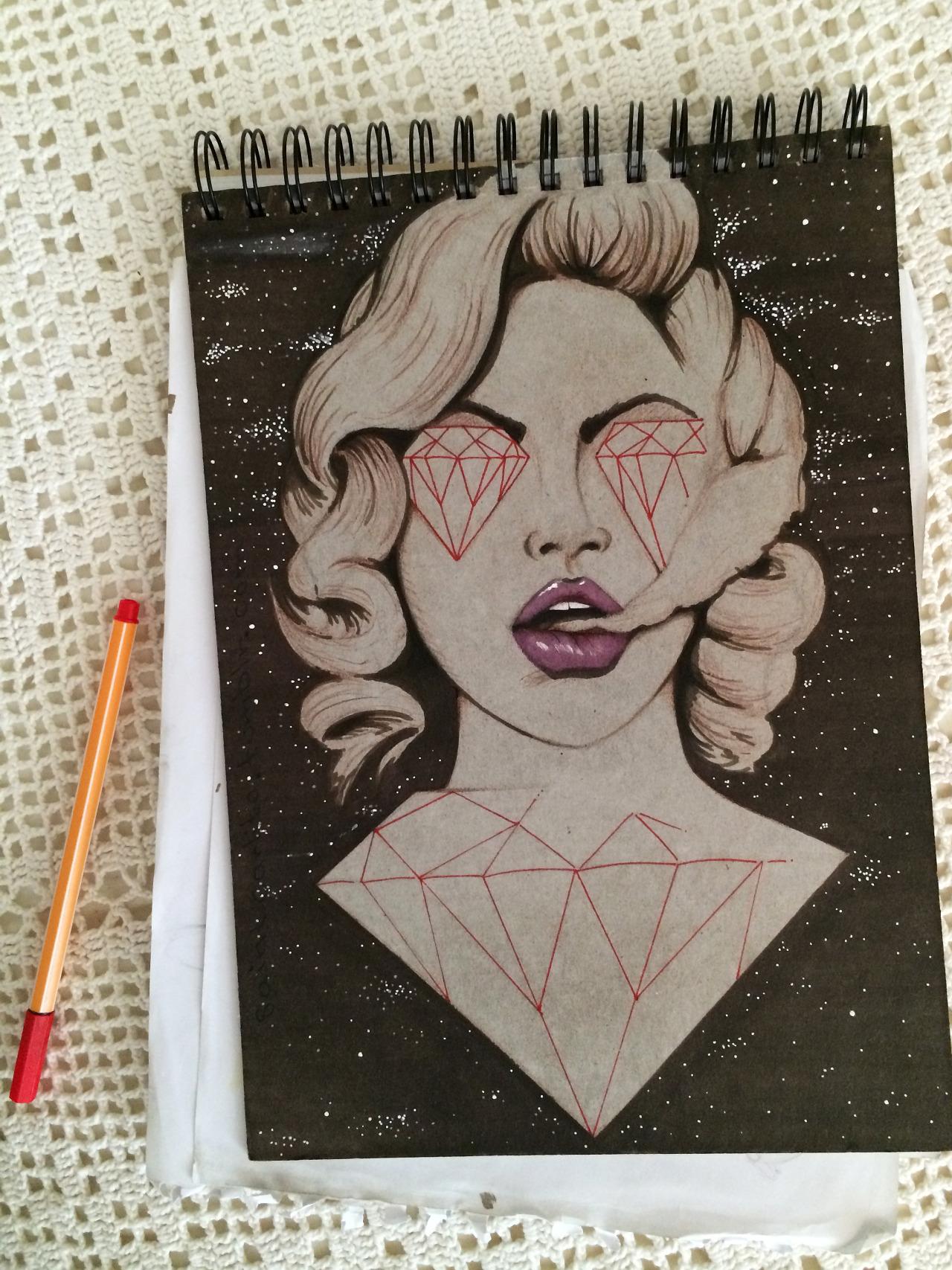 """Mother Universe"" drawn on cardboard."