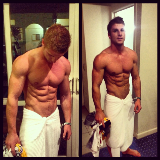 Goal Body Physique Right Thurr  Dude's name is Josef Rakich, he's pretty well sponsored and has his own website where he designs workout programs for each specific person. I'm on his workout plan. Incase you're interested: www.JosefRakichFitness.com