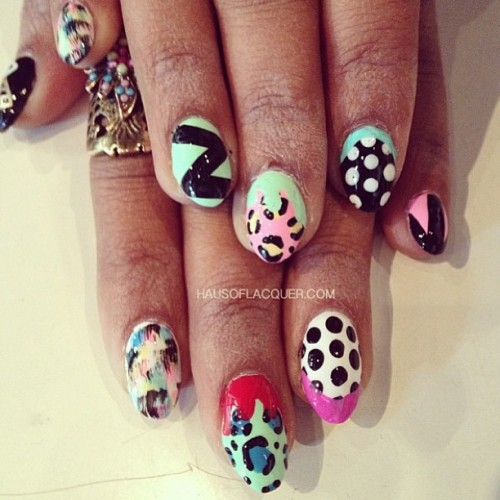 Mix n match nails for @nattiejay112 by @hausoflacquer #nailed #nailart #nailartporn #nailartswag #crownthequeens #holsnails #instagood