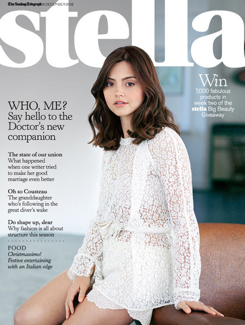 Jenna Louise Coleman on the cover of Stella Magazine via Stella Magazine Twitter