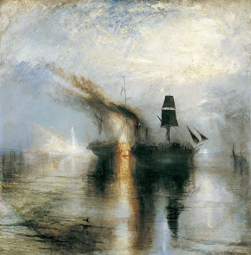 JMW Turner (1755-1851), Peace Burial at Sea, 1842, Tate Gallery, London.