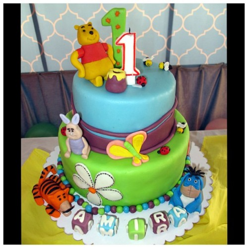 Birthday #cake! :) #Amira #baby #1stbirthday #WinnieThePooh #Piglet #Tigger #Eeyore #design #decor #party #goddaughter #happiness #dessert #igers #igersmanila #igphilippines #instagram