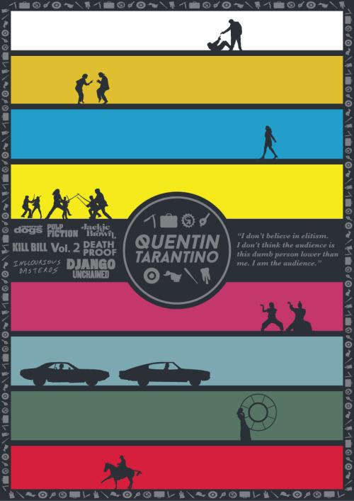 Tarantino Filmography Poster by John Conlon