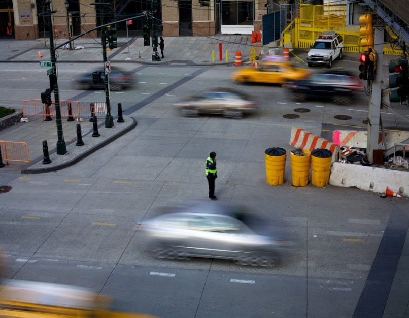Downtown Traffic, Crossing Guard