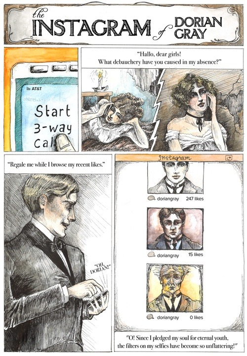 jyhslibrary:  The Instagram of Dorian Gray (via Book humor /)