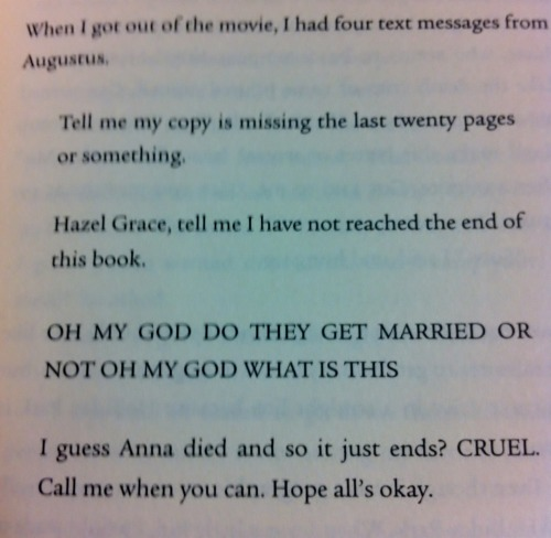 andycarolina:  Wherein Augustus Waters is basically tumblr