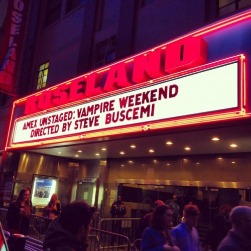 stereogum:  Watch Vampire Weekend's Steve Buscemi-directed Unstaged concert