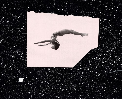 Take a Risk  What's stopping you is probably you. Words by Anna F., collage by Beth.