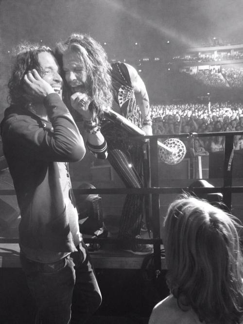 grungebook:  Soundgarden's Chris Cornell & Aerosmith's Steven Tyler in Berlin, June 8, 2014