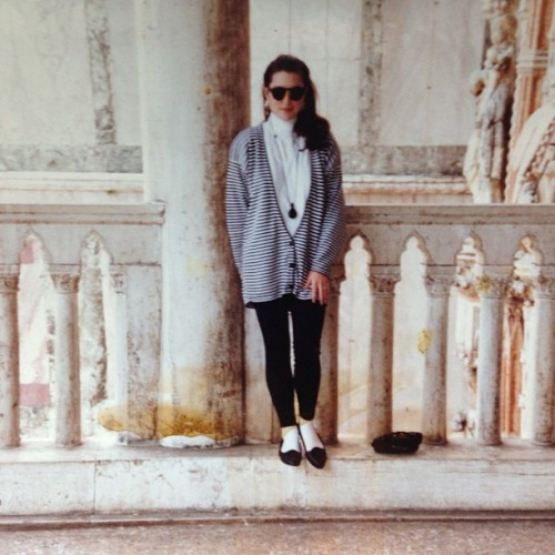 Happy Mother's Day to this stylish broad. In Rome, 1990.