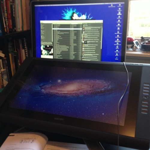 Just installing this beast… #wacom #illustration #instadaily #tech
