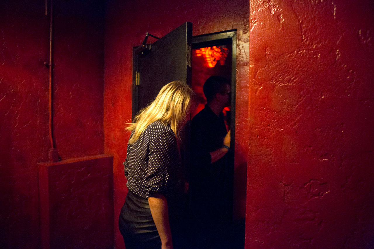 Backstage. Alexz Johnson plays School Night at Bardot in Los Angeles. December 3, 2012.
