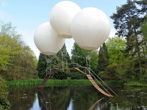 laughingsquid:  Pont de Singe, A Bridge Suspended by Helium Balloons