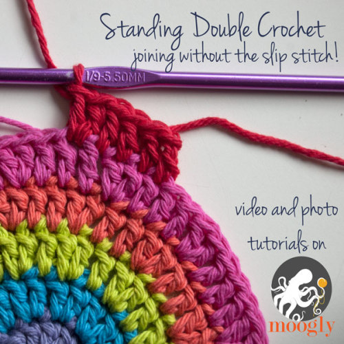 mooglyblog:  My very favorite crochet trick! Tutorials here!  Ooh, I'm gonna have to try this next time! I usually do a faux double crochet, but this looks like it might be even better!