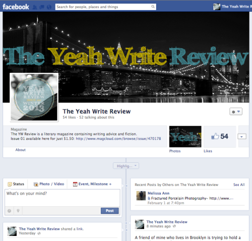 yeahwriters:  Did you know that The Yeah Write Review has a Facebook page? Like it to get news on submission openings, publication dates, future release parties, and more! http://www.facebook.com/ywreview