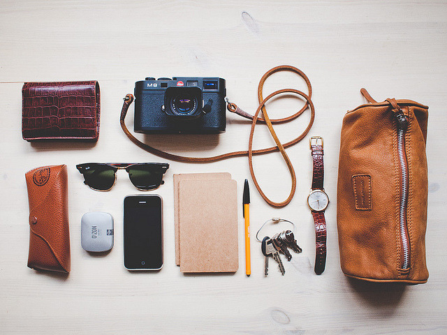 preclude:   What's in my bag by Benjamin Bergh on Flickr.