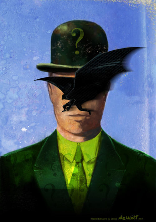 goodguycomics:  Riddler Magritte by uwedewitt