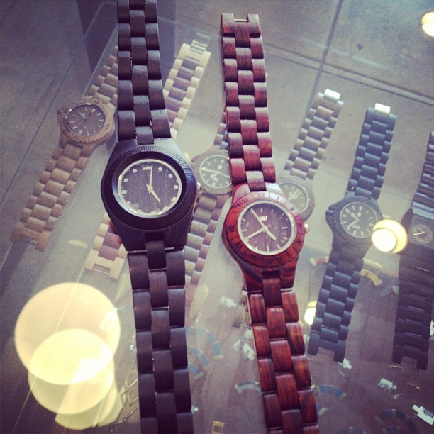 New ladies' #wewood watches. Odyssey and Moon, $120 at #unamaeslosangeles. (at Una Mae's)
