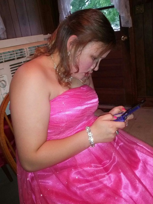 Today is my younger sister's senior prom. I only get to see her about every two weeks, but I spent almost the whole day with her today. She is an example of the person I try to be. She is kind and humble. She is tender hearted. She is the most beautiful person, inside and out. She used to be this tiny little ball of energy running wild in our childhood. Now she's a grown woman and I couldn't be more proud of her. She's clever and funny. She takes everything to heart, so she's been hurt a lot in life. Tamara is my hero and if I never do anything else in life, I've got to make sure she is safe and loved and well taken care of.  We grew up in a very tough environment, and it didn't ever get her down like it got to me. So I look up to her. And everybody should. I just don't know what to say to myself when I look at her. How did the world produce this wonderful human being I am blessed enough to share blood and the bonds of sisterhood with?
