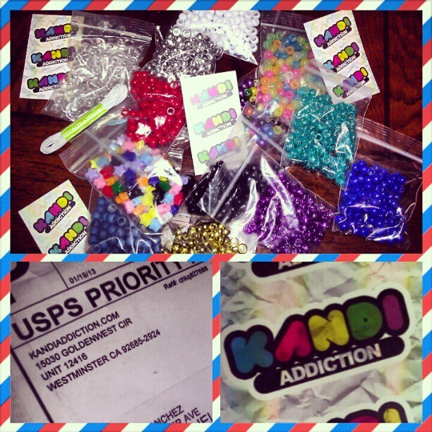 Getting ready for #Ultra2013 Thanks @kandiaddiction for the kandi. You guys rock. All I need now are some letters.