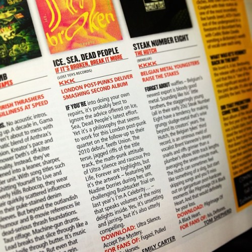Kerrang! throw a few Ks of praise at If It's Broken… this week!