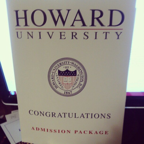 Finally got this in the mail #hu2017 #official #goingtocollege