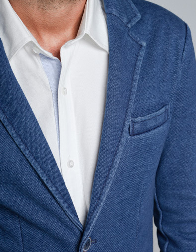 #15 - Zara Indigo Cotton Blazer
